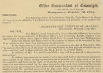 Order to conscript Alabama slaves for the Confederate Army, 1864 (GLC06158.11)