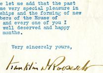 Franklin D. Roosevelt to Henry T. Rainey, June 10, 1933. (GLC)