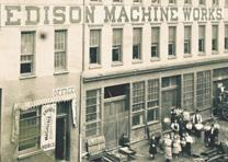 Photograph of Edison Machine Works in New York City, 1881. (GLC07616.05)