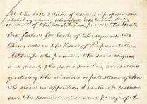 Lincoln's handwritten notes for his Annual Report to Congress, urging Congress t
