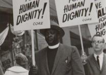 Sympathy strike in New York City against segregation in southern lunch counters,
