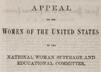 """An Appeal to the Women of the United States"" (Washington DC, 1871) (GLC08999)"