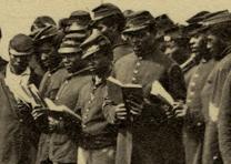 Louisiana Native Guard in Port Hudson, Louisiana, 1863. (GLC09229)