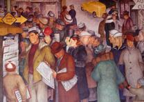 Coit Tower murals, San Francisco, CA (Carol Highsmith Archive, Lib. of Congress)