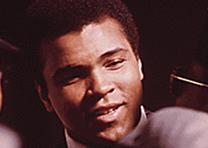 Muhammad Ali in Chicago, Illinois, March 1974. (NARA)