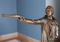 Alexander Hamilton, bronze sculpture by Kim Crowley, 2004
