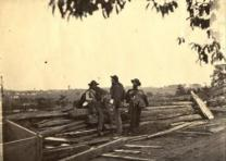 Rebel prisoners at Gettysburg, [1863]. Photograph by Mathew Brady. (Gilder Lehrm