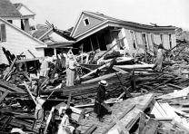 """Seeking valuables in the wreckage, Galveston, Texas,"" Keystone View Company, Pe"