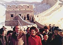 The Nixons at the Great Wall of China, February 1972. (NARA)