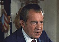 Richard Nixon on the day of his resignation, August 9, 1974. (NARA ARC Id 194597