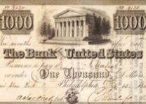Bank note from the Bank of the United States dated December 13, 1840. (GLC01994)