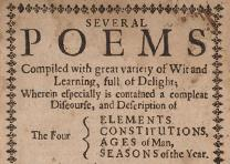 "Second edition of ""Several Poems . . . ,"" by Anne Bradstreet, published posthumo"