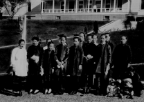 Chinese women and children arriving at Angel Island (California Dept. of Parks)