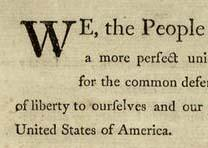 GLC03585, Constitution. Printed Dunlap & Claypoole edition inscribed by Benjamin