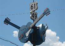 The Crossroads in Clarksdale, Mississippi, by Joe Mazzola. (Wikimedia)