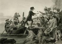 """Landing of Roger Williams,"" (New York: Johnson Fry & Col, 1867) (GLC08878.0006)"