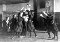 Western High School Girls' Basketball, Washington, DC, 1899. (Courtesy Library o