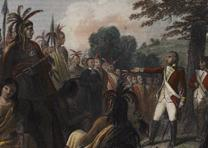 General Burgoyne Addressing the Indians (GLC04761)