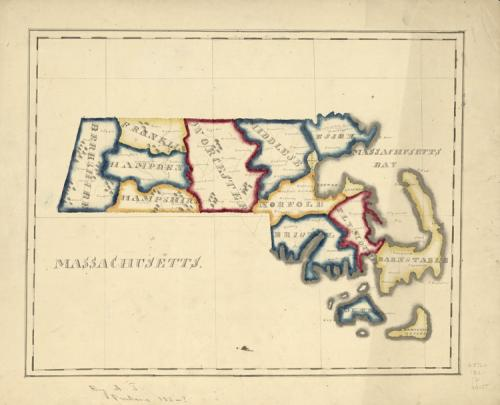 Map of Massachusetts, A.T. Perkins, 182? (Library of Congress)
