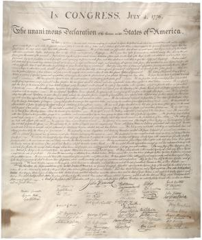 The Declaration of Independence. (Gilder Lehrman Collection)