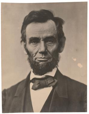 Portrait of Abraham Lincoln by Alexander Gardner, 1863. (The Gilder Lehrman Coll