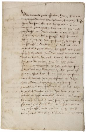 Sebastian Brandt to Henry Hovener, January 13, 1622. (Gilder Lehrman Collection)