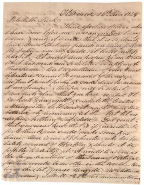 Robert E. Lee to John MacKay, June 26, 1834. (The Gilder Lehrman Institute)