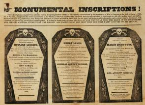 John Binns, Monumental Inscriptions, 1828 (Gilder Lehrman Collection)