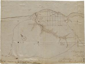 Map of Yorktown, Virginia, October 1781 (Gilder Lehrman Collection)