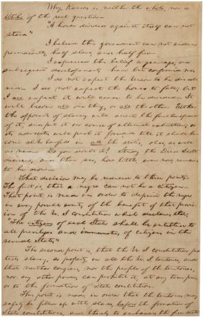 "Abraham Lincoln, notes for the ""House Divided"" speech, ca. December 1857 (Gilder"