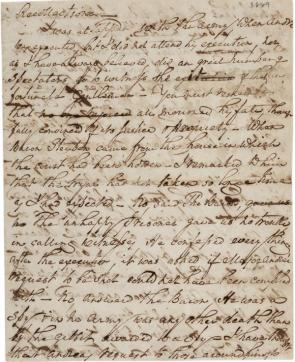 William North's Recollection, September 18, 1823 (GLC02541.02)