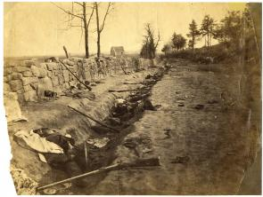 The Sunken Road, May 2, 1863, Fredericksburg, Va. (Gilder Lehrman Collection)