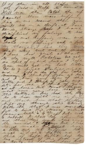 Pvt. Elbert Corbin to his wife, July 6, 1863. (GLC)