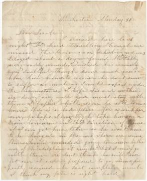 Mary Kelly to Sallie L. Gordon, March 31, 1862 (Gilder Lehrman Collection)