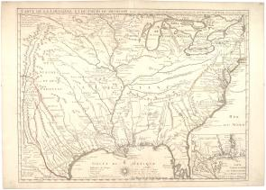 Carte de la Louisiane et du cours du Mississippi [map of North America], by Guil