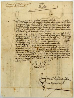 Francisco García de Loaysa to to Francisco Vásquez de Coronado, June 21, 1540 (Gilder Lehrman Collection)