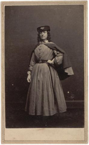 Vivandiere from the 12th Regiment, ca. 1861-1865. (Gilder Lehrman Collection)