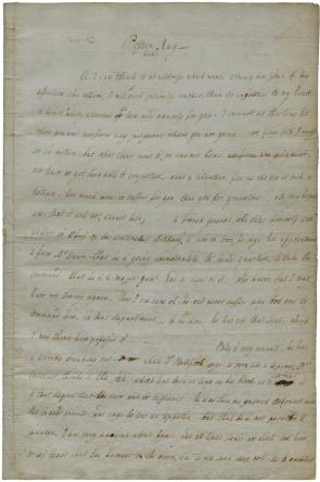Lucy Knox to Henry Knox, May 1777. (GLC05895)