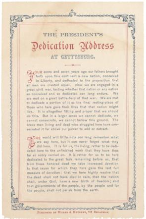 the gettysburg address gilder lehrman institute of  abraham lincoln gettysburg address 19 1863 gilder lehrman collection