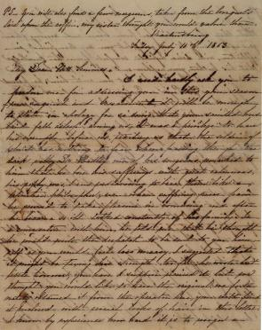 Mary Oden to Emily J. Semmes, July 10, 1863. (GLC07225)