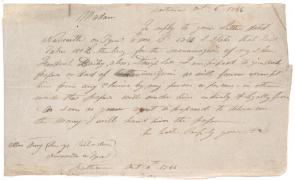 Hugh Auld to Anna Richardson, October 6, 1846 (GLC07484.04)