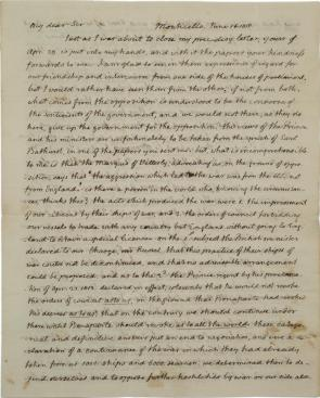 Thomas Jefferson to James Maury Esq., June 16, 1815. (Gilder Lehrman Collect