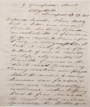 James William Charles Pennington to unknown, April 29, 1851 (Gilder Lehrman Coll