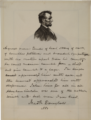 Frederick Douglass's tribute to Abraham Lincoln, 1880 (GLC09091)