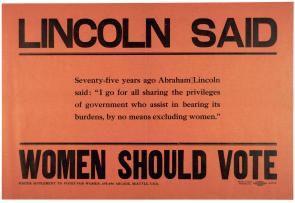 Lincoln Said Women Should Vote, ca. 1910 (Gilder Lehrman Collection)