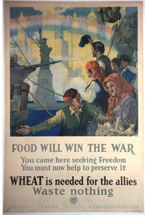 """Food Will Win the War,"" US Food Administration, ca. 1918. (GLC09522)"