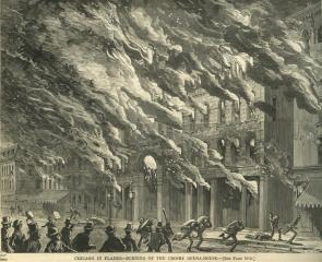 """Chicago in Flames,"" Harper's Weekly, October 28, 1871 (Gilder Lehrman Collectio"