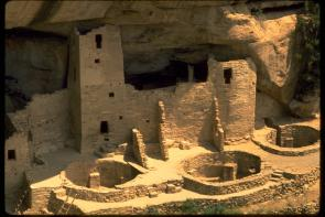 Anasazi dwellings in Mesa Verde, Colorado. Courtesy of the National Park Service.