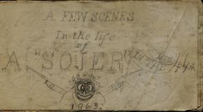 "Title p""A Few Scenes in the life of A 'SOJER' in the Mass 44th"" (GLC08200.00002)"