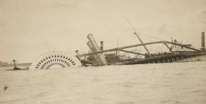 The steamer General Slocum, June 15, 1904 (New York Public Library Digital Colle